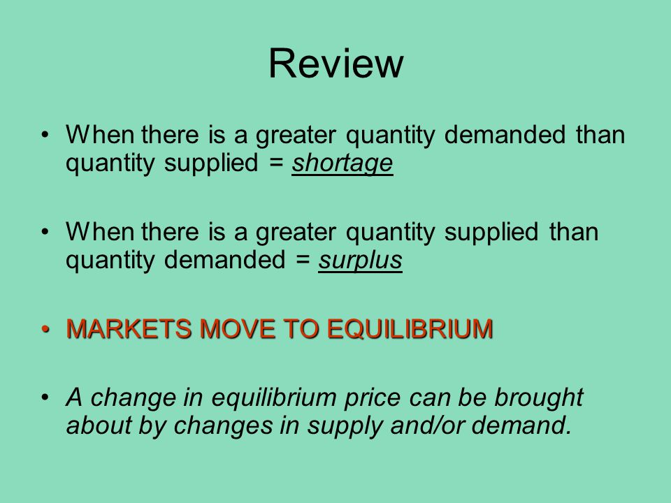 What could cause an increase in demand.What happened to price.