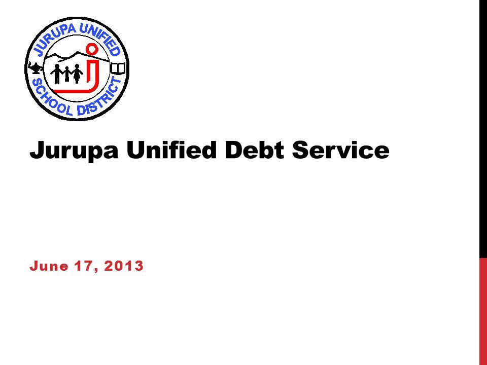 Jurupa Unified Debt Service June 17, 2013