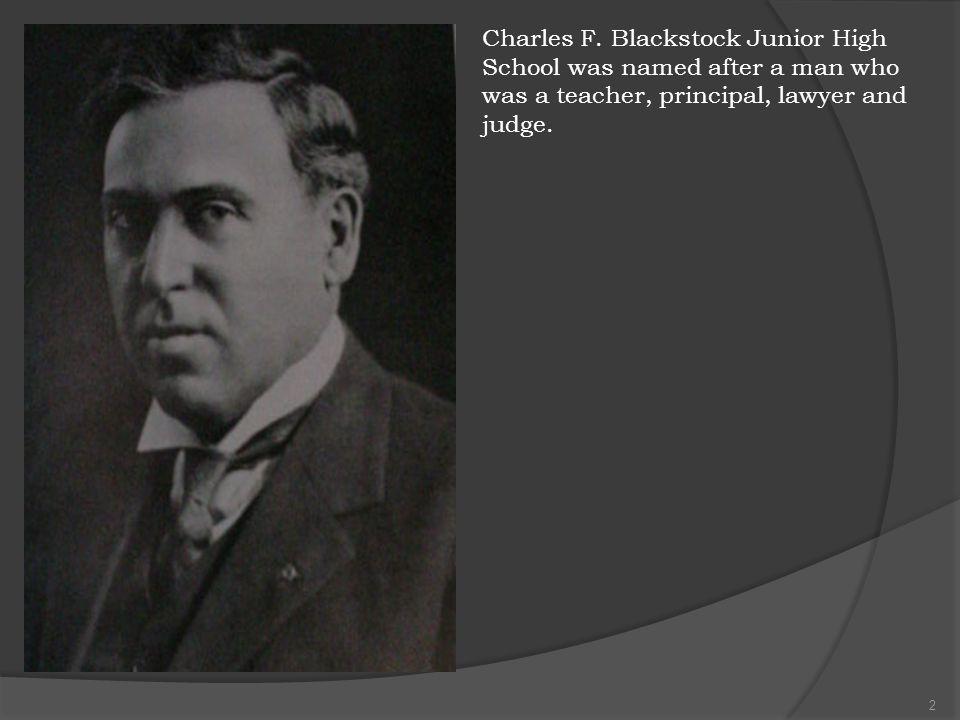 Charles F. Blackstock Junior High School 701 East Bard Road, Oxnard, CA 93033 Thomas Beneke, Principal Maria Granado, Assistant Principal Rossana Padi