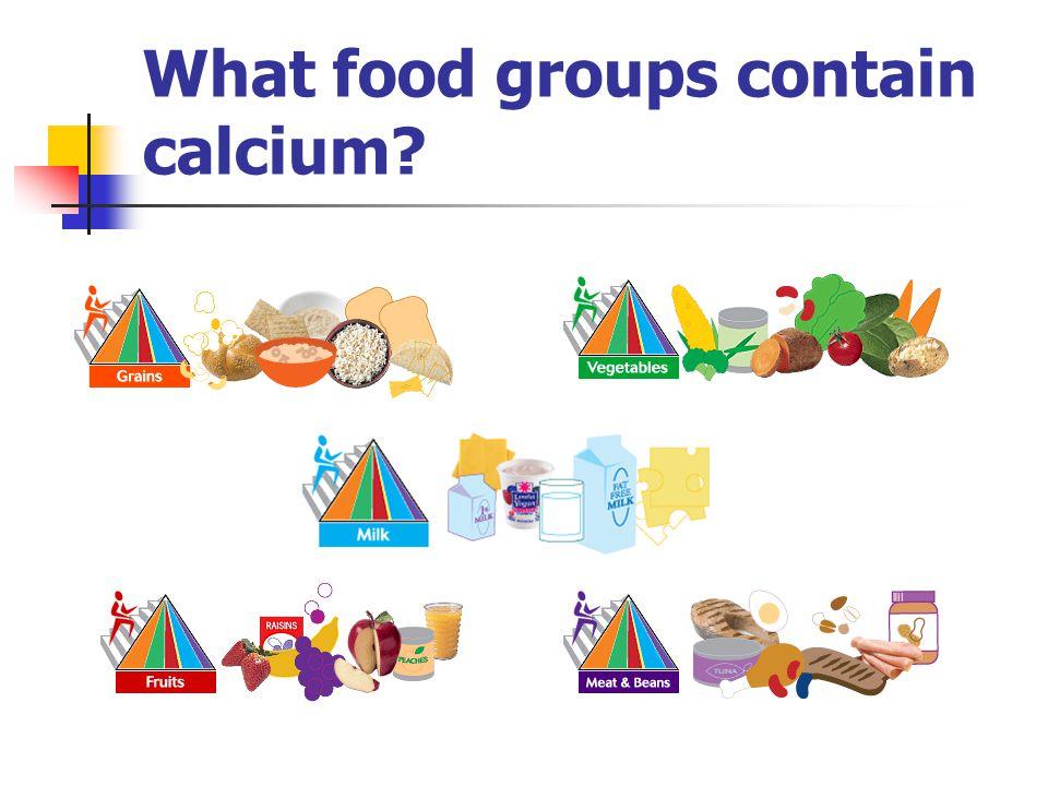 What food groups contain calcium?