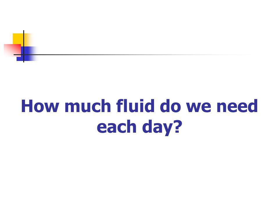 How much fluid do we need each day?