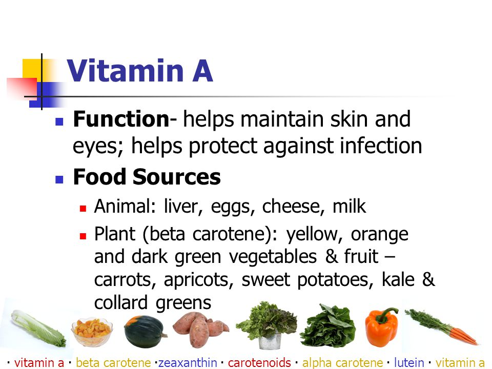 Vitamin C Function: helps produce connective tissue, repairs, helps absorb iron, protects from bruising, keeps gums healthy, helps heal cuts, protects from infection Source : citrus fruits, broccoli, kiwi, cantaloupe, red peppers, tomatoes  vitamin c  ascorbic acid  dehydroascorbic acid 