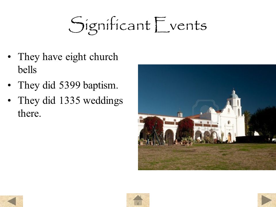 Significant Events They have eight church bells They did 5399 baptism. They did 1335 weddings there.