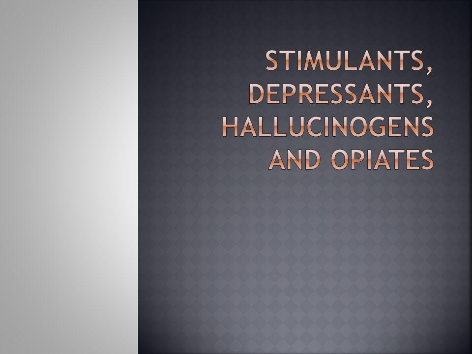  Drugs that temporarily increase a person's energy, alertness  Includes: Inhalants Ecstasy Cocaine (aka coke, crack, snow, crack cocaine) Methamphetamine (aka meth, crystal, ice) Amphetamines