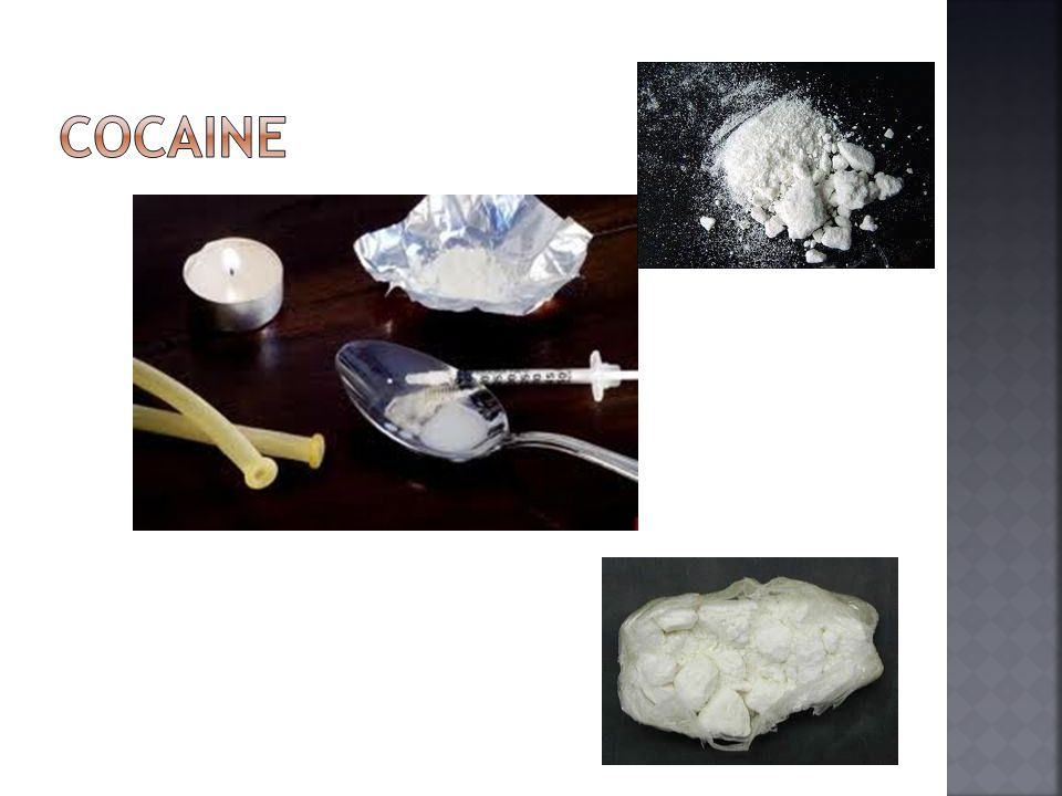  Cocaine is a stimulant giving users a quick, intense feeling of power and energy.