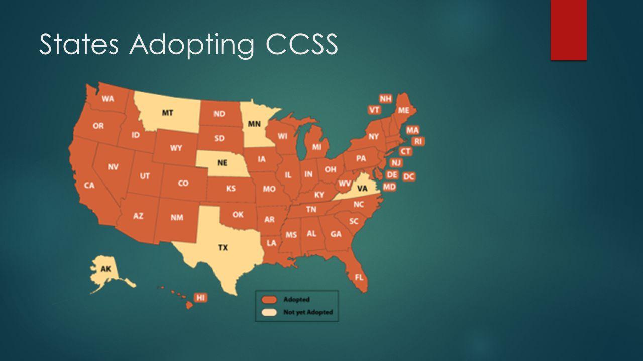 States Adopting CCSS