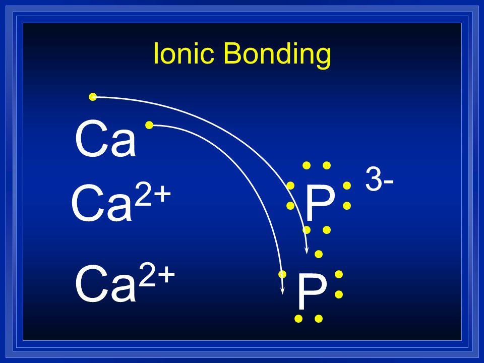 Ionic Bonding Ca 2+ P 3- Ca 2+ P Ca