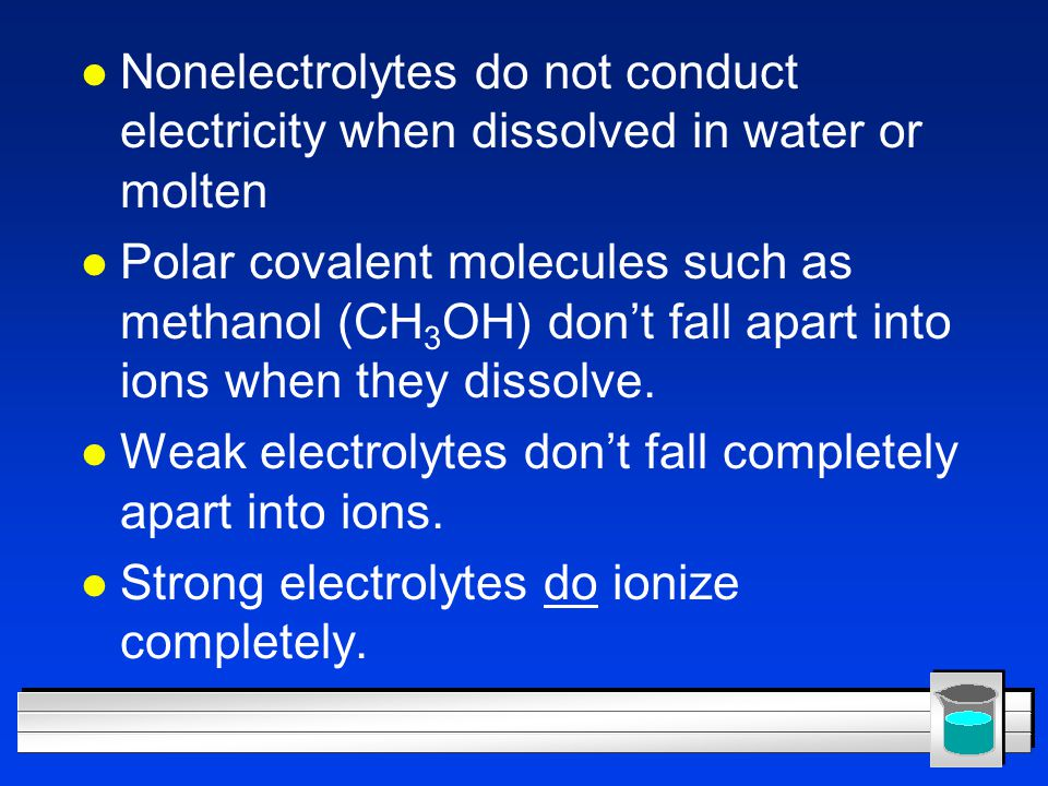 Water of Hydration (or Water of Crystallization) l Water molecules are chemically bonded to solid salt molecules (not in solution) l These compounds have fixed amounts of water.