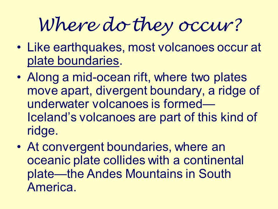 How do volcanoes form? A volcano forms when molten rock erupts or flows as lava from an opening in earth's surface and builds up a volcanic cone. Thes
