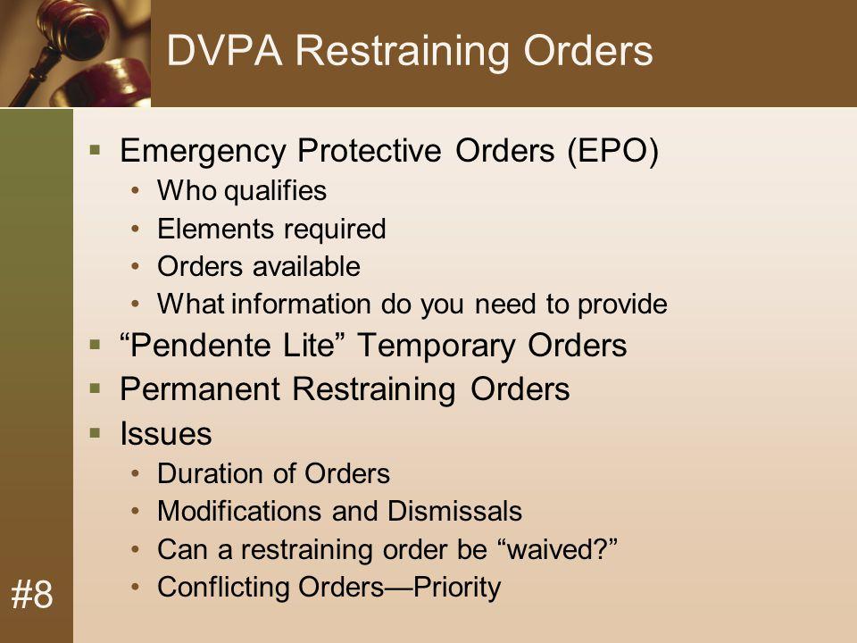 #8 Reissue Temporary Restraining Order