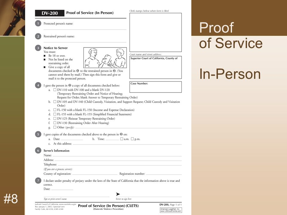 #8 Proof of Service In-Person