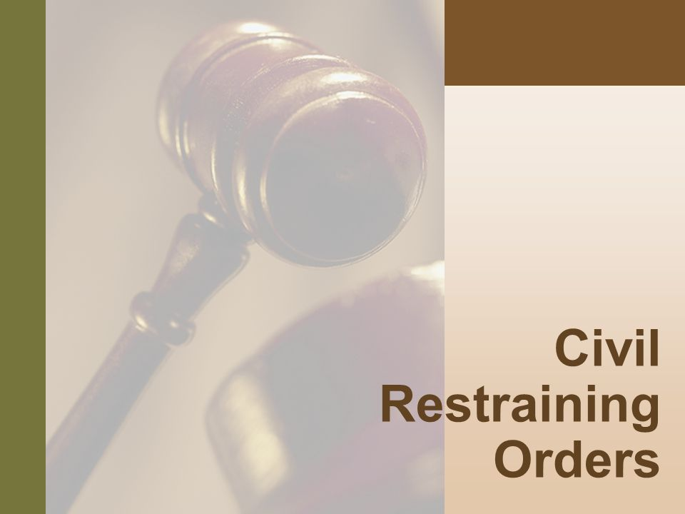 #8 Civil Restraining Orders