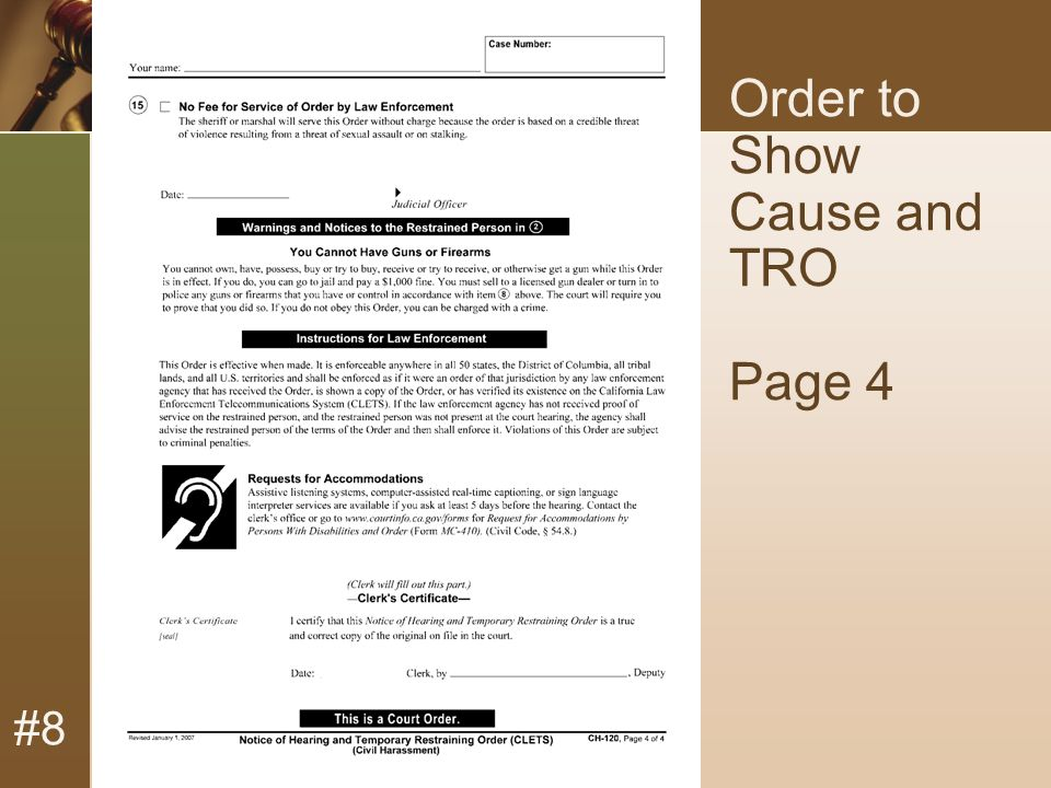 #8 Order to Show Cause and TRO Page 4