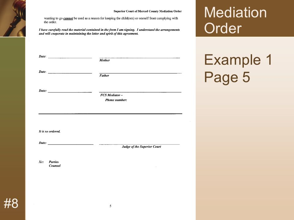 #8 Mediation Order Example 1 Page 5