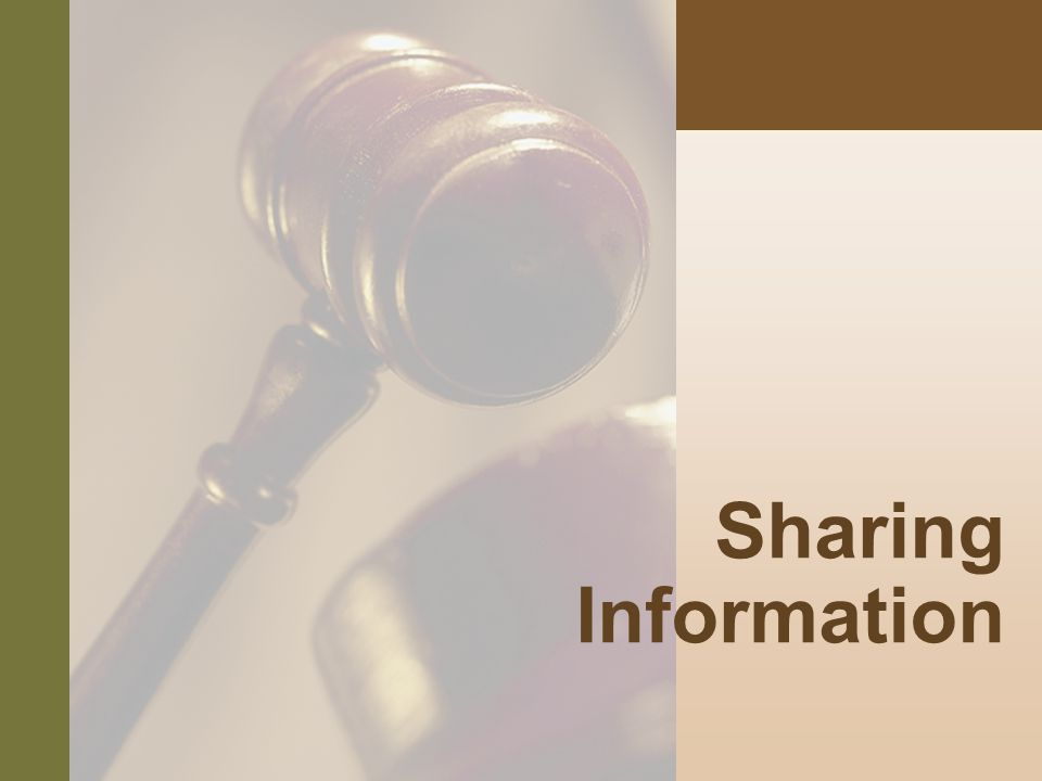 #8 Sharing Information
