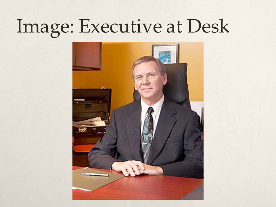 Image: Executive at Desk