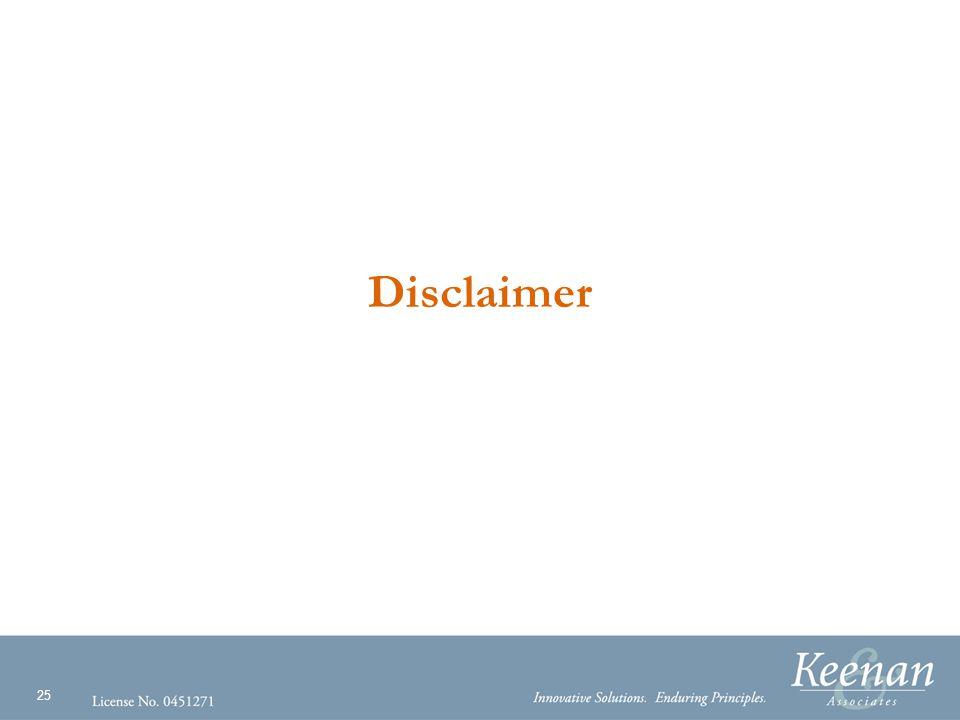 25 Disclaimer