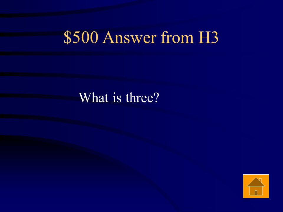 $500 Question from H3 The number of seismic recording stations required to locate the epicenter of an Earthquake. Answer