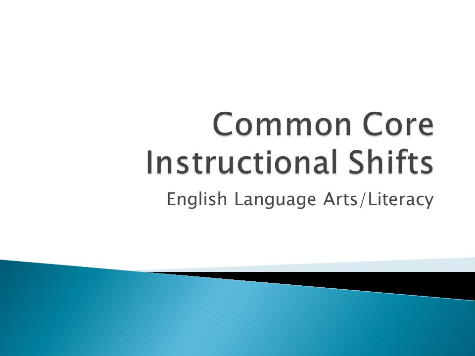English Language Arts/Literacy