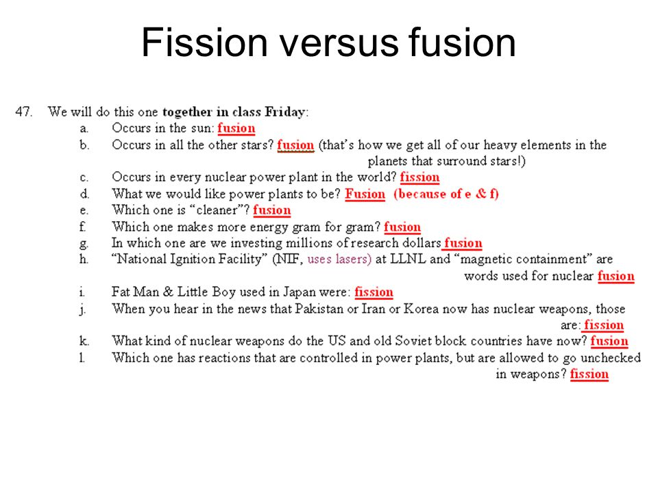 Worksheets Fission And Fusion Worksheet tues thurs may srs final parts 1 2 jrs star fission versus fusion