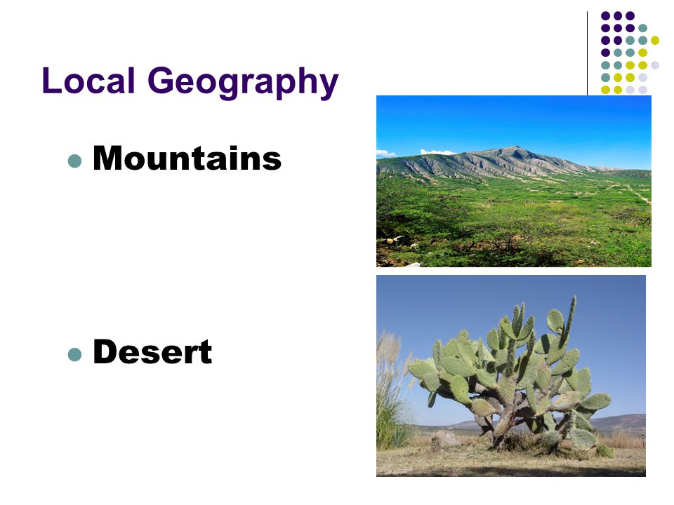 Local Geography Mountains Desert