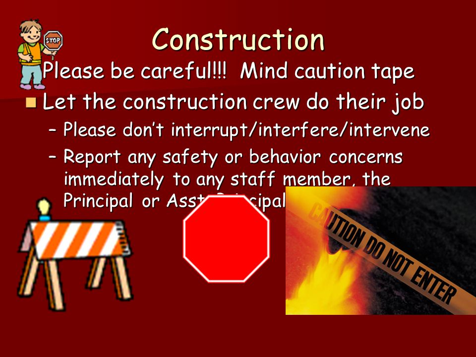 Construction Please be careful!!. Mind caution tape Please be careful!!.