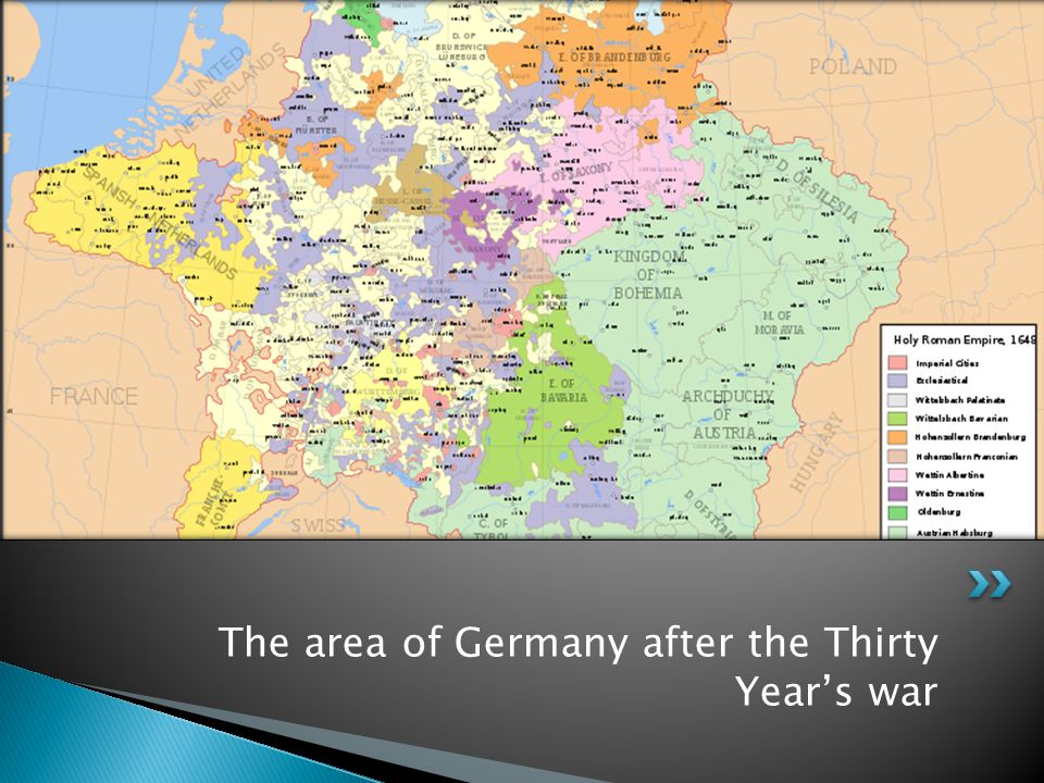 The area of Germany after the Thirty Year's war