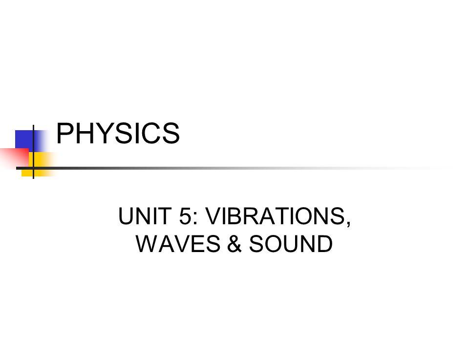PHYSICS UNIT 5: VIBRATIONS, WAVES & SOUND