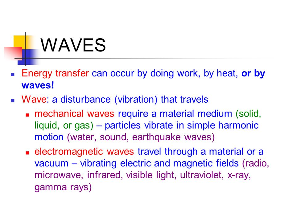WAVE INTERACTIONS Diffraction greatest when  is greater than or equal to the size of opening or object