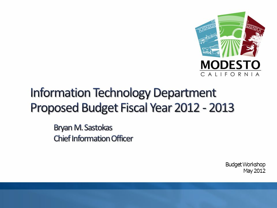 Budget Workshop May 2012