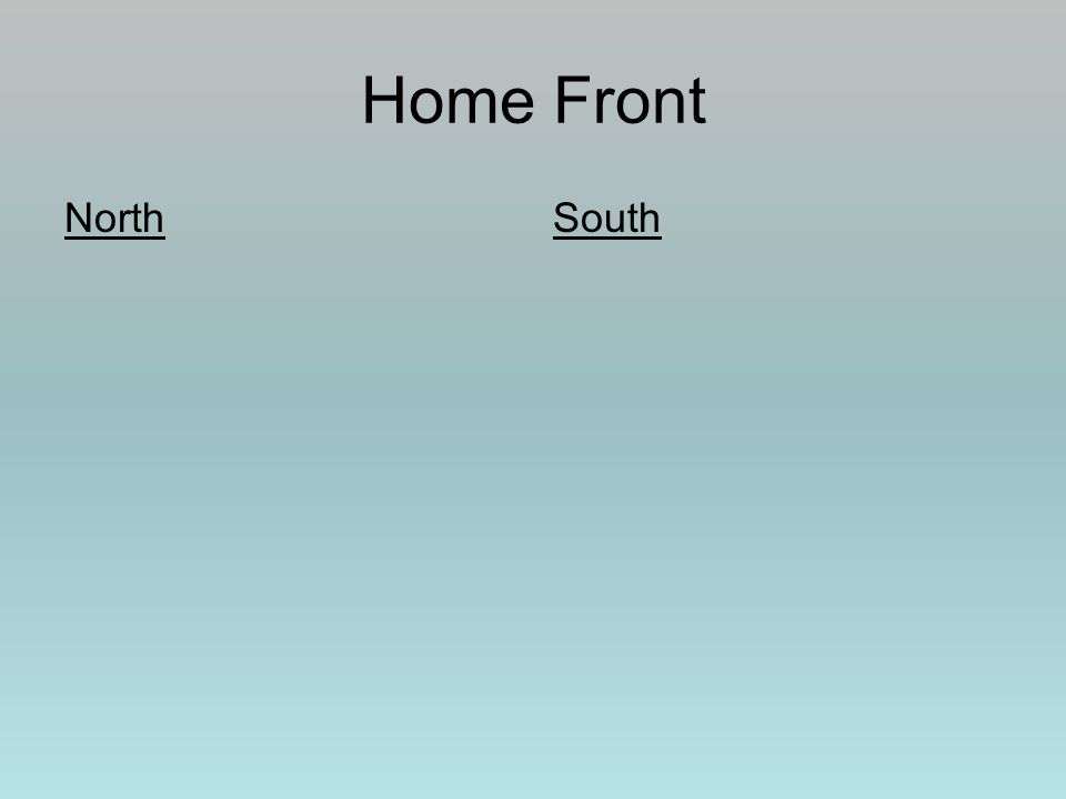 Home Front NorthSouth