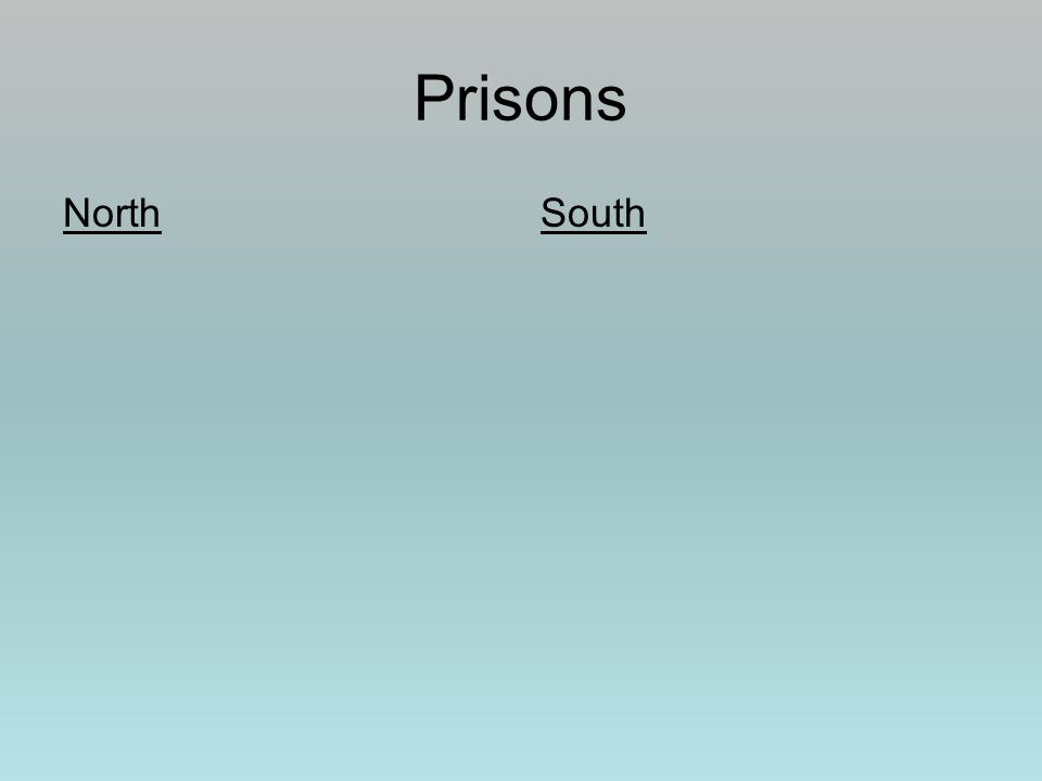 Prisons NorthSouth