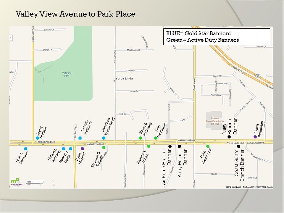 Valley View Avenue to Park Place Rick J. Centanni Joel K.
