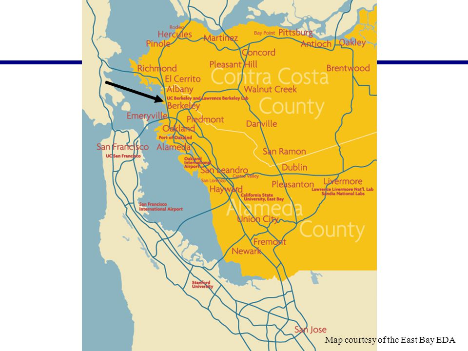 Map courtesy of the East Bay EDA