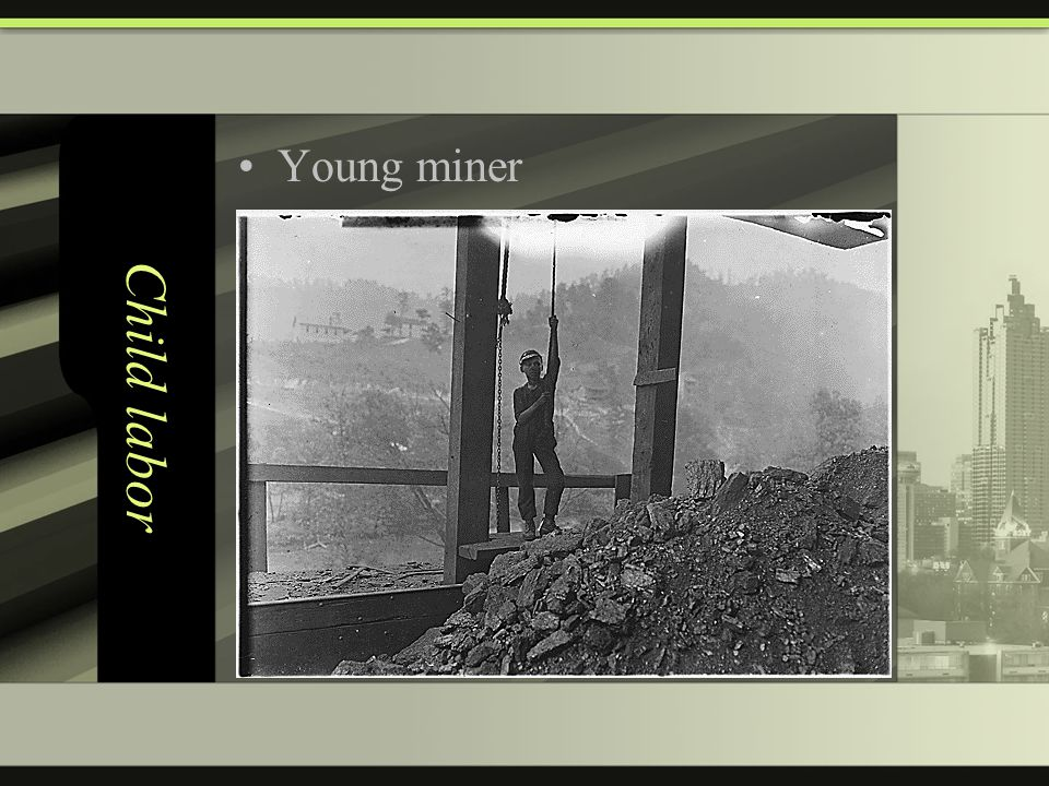 Child labor Young miner