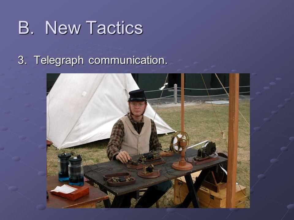 B. New Tactics 3. Telegraph communication.