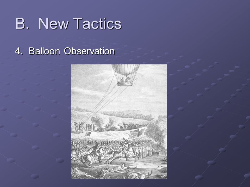 B. New Tactics 4. Balloon Observation