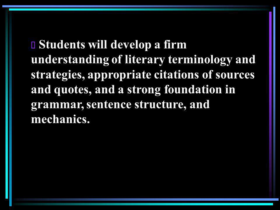  The structure and execution of the multi-paragraph essay will be the focus of the composition element of the fall semester, and the research paper will be the focus of composition in the spring semester.