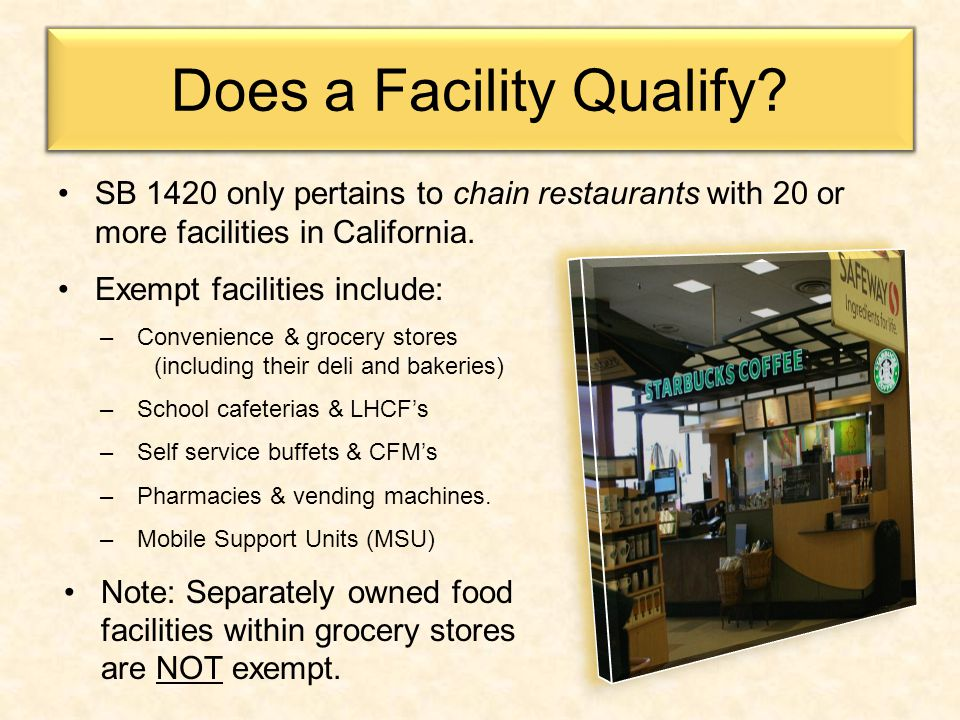 Does a Facility Qualify.