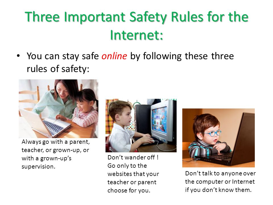 Taking Trips Online Let's take a trip to Pair Share – What is Safety Rule #1.