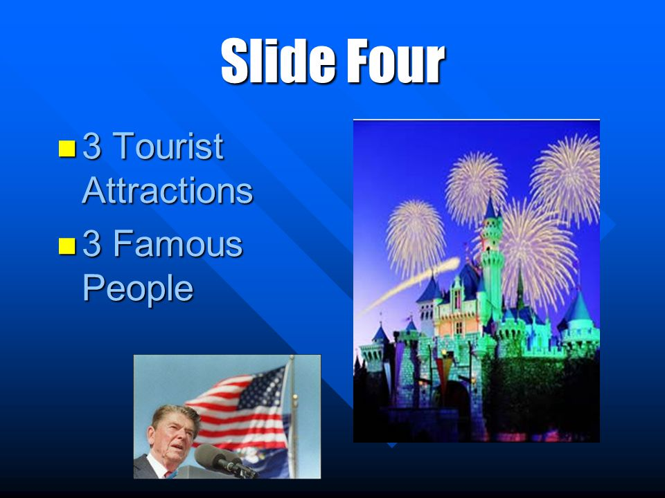 Slide Four 3 Tourist Attractions 3 Tourist Attractions 3 Famous People 3 Famous People