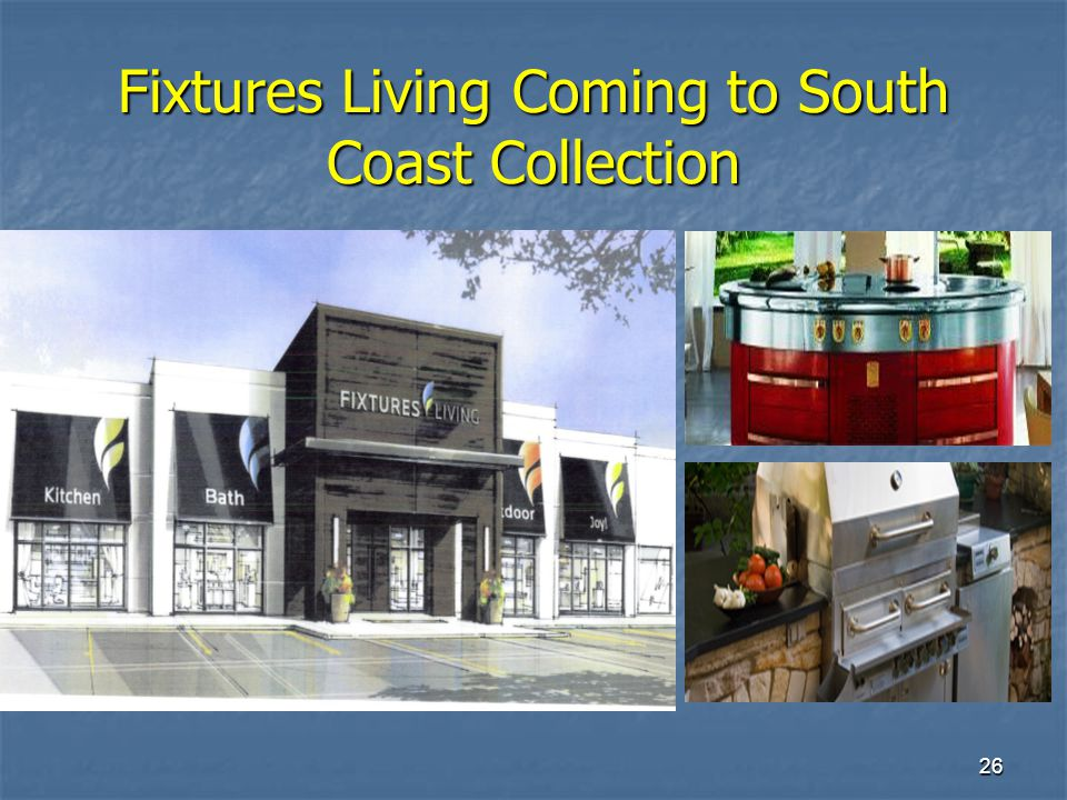 26 Fixtures Living Coming to South Coast Collection
