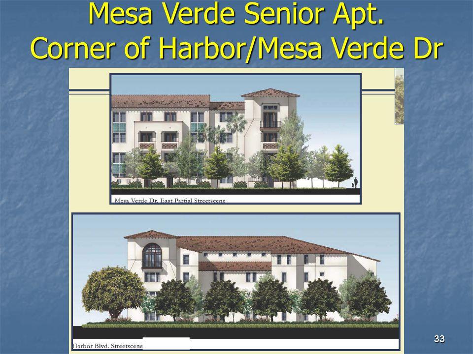 33 Mesa Verde Senior Apt. Corner of Harbor/Mesa Verde Dr