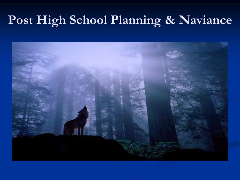 Post High School Planning & Naviance