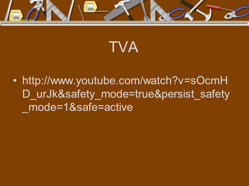 TVA http://www.youtube.com/watch?v=sOcmH D_urJk&safety_mode=true&persist_safety _mode=1&safe=active