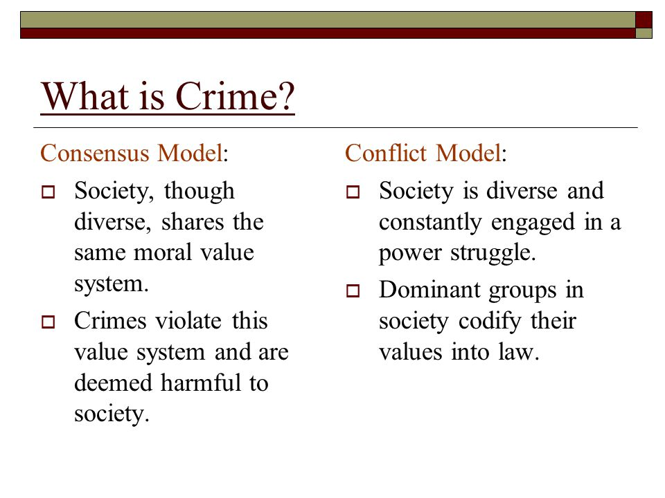 What is Crime.An Integrated Definition: Punishable under criminal law as defined by a society.