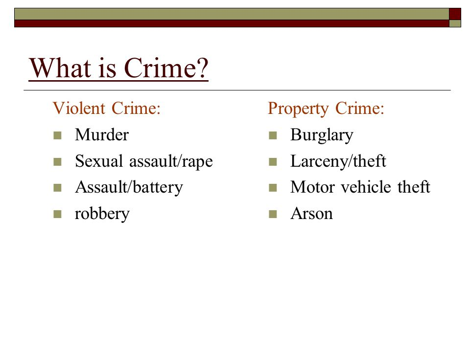 Values of the Criminal Justice System Crime Control Model: A model of criminal justice that places primary emphasis on the rights of society to be protected from crime and violent offenders.
