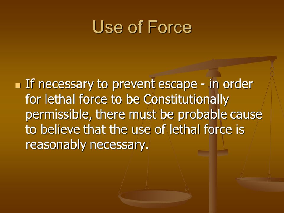 Use of Force Recognize factors require in establishing sufficiency of fear.