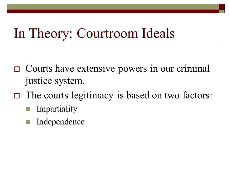 In Practice: The American Judicial System Jurisdiction:  Geographic jurisdiction  International jurisdiction  Subject-matter jurisdiction Courts of general jurisdiction Courts of limited jurisdiction