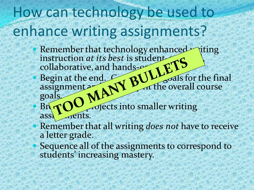 Bullet Points Why use.